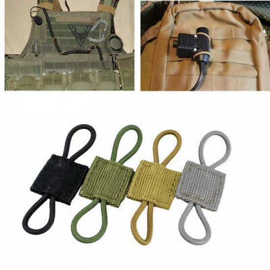 ACM PTT Retainer - MOLLE Webbing Management Bungee Tie Down Point Black