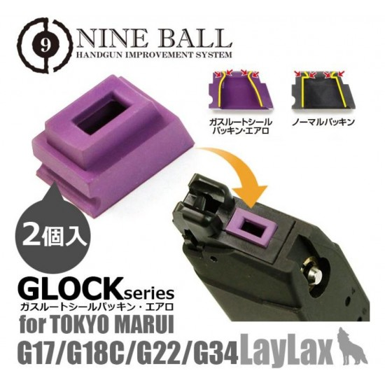 Nine Ball Wide Use/Gas Route Seal Packing Aero for TM Glock